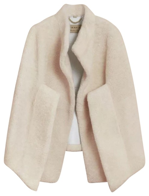 Preload https://img-static.tradesy.com/item/24929493/burberry-white-sculptural-shearling-ponchocape-size-4-s-0-3-650-650.jpg