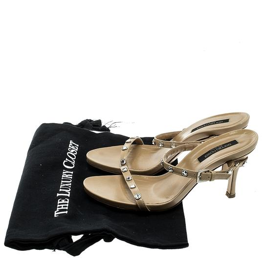 Sergio Rossi Leather Crystal Studded Ankle Strap Sandals Image 7