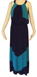 Turquoise and navy Maxi Dress by Vince Camuto