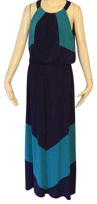 Preload https://img-static.tradesy.com/item/24929496/vince-camuto-turquoise-and-navy-long-casual-maxi-dress-size-8-m-0-1-650-650.jpg
