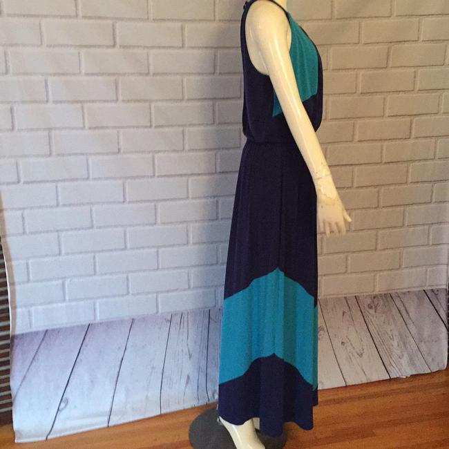 Turquoise and navy Maxi Dress by Vince Camuto Image 2