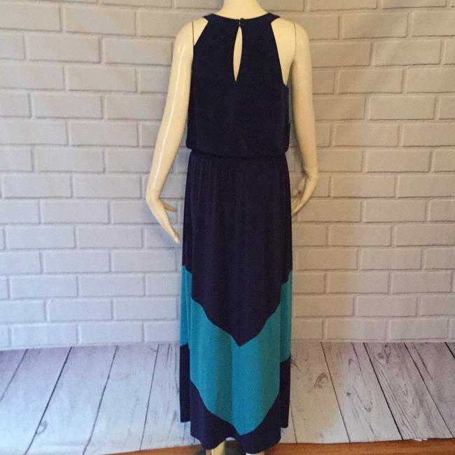 Turquoise and navy Maxi Dress by Vince Camuto Image 3