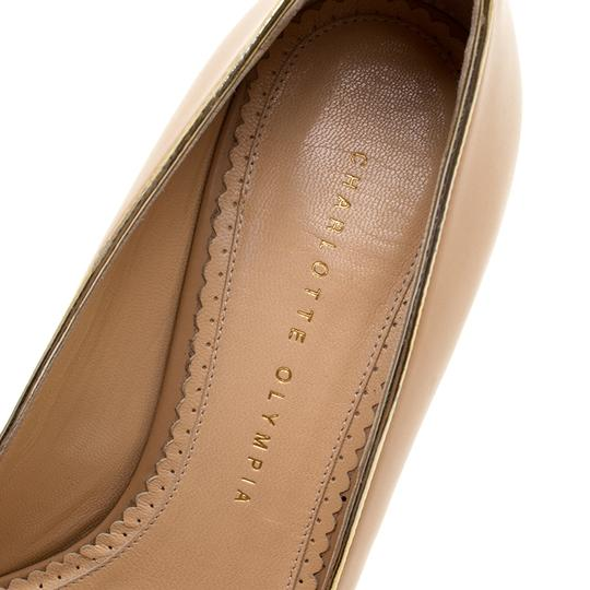 Charlotte Olympia Leather Open Toe Beige Sandals Image 6
