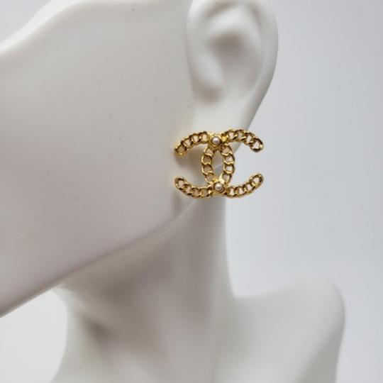 Chanel Chanel Gold Chain Earrings Image 1