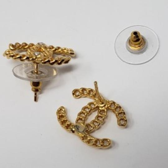 Chanel Chanel Gold Chain Earrings Image 4