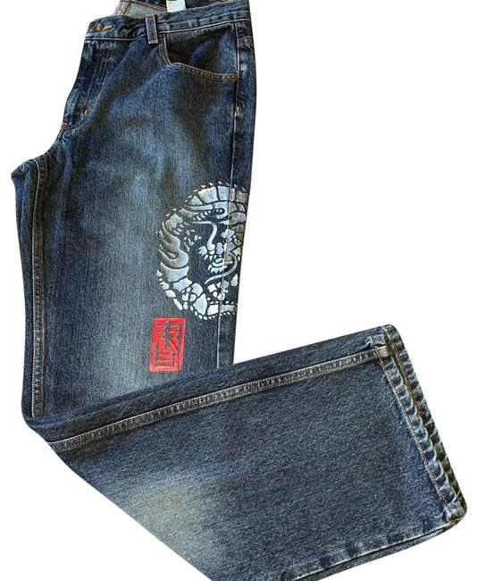 Preload https://img-static.tradesy.com/item/24929586/dkny-blue-distressed-chinese-design-boot-cut-jeans-size-10-m-31-0-2-650-650.jpg