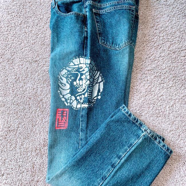 DKNY Boot Cut Jeans-Distressed Image 1
