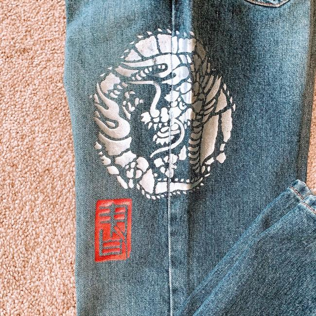 DKNY Boot Cut Jeans-Distressed Image 2
