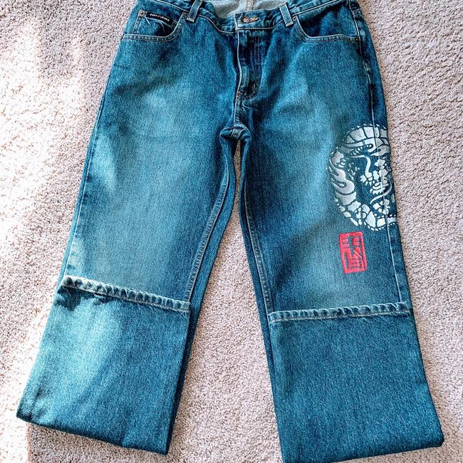 DKNY Boot Cut Jeans-Distressed Image 3
