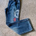 DKNY Boot Cut Jeans-Distressed Image 5