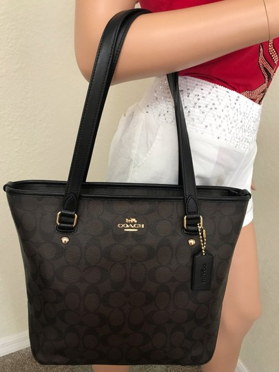 Coach Tote in Brown black Image 1