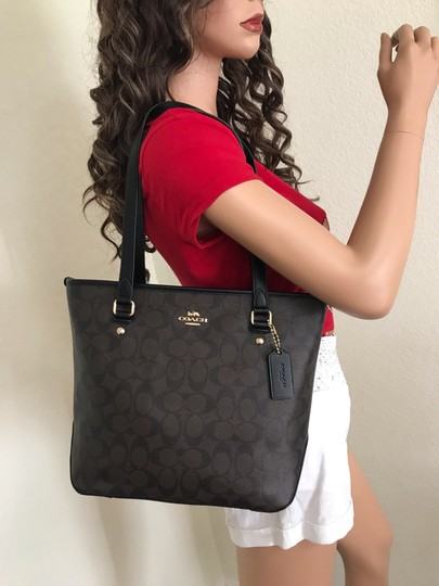 Coach Tote in Brown black Image 3