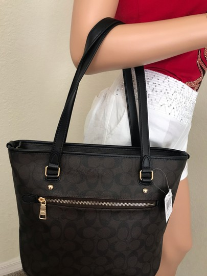 Coach Tote in Brown black Image 8
