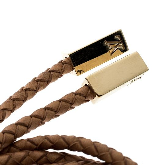 Louis Vuitton Brown Braided Leather Belt Image 3