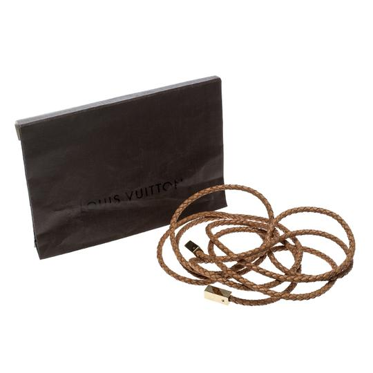 Louis Vuitton Brown Braided Leather Belt Image 4