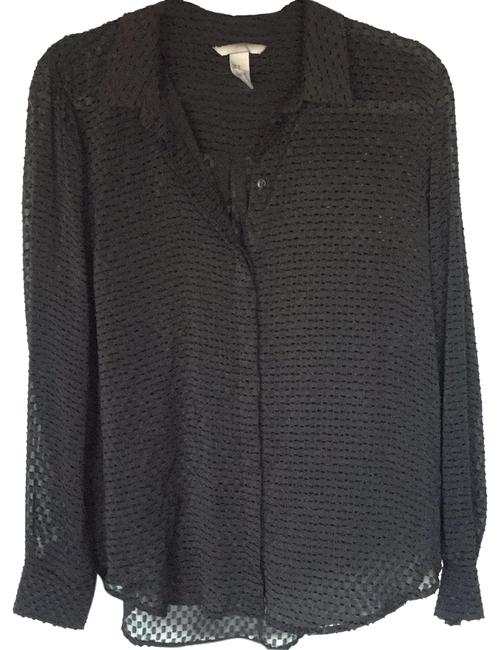 Preload https://img-static.tradesy.com/item/24929636/h-and-m-black-sheer-patterned-button-down-blouse-size-10-m-0-1-650-650.jpg
