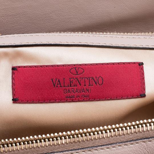 Valentino Satin Leather Lace Tote in Beige Image 8