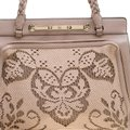 Valentino Satin Leather Lace Tote in Beige Image 9