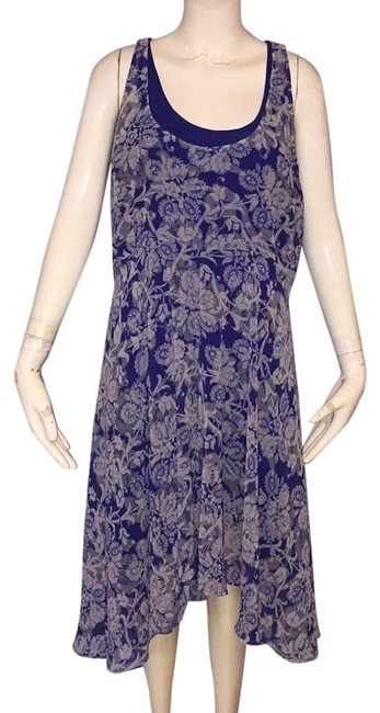 Preload https://img-static.tradesy.com/item/24929697/cabi-blue-and-cream-mid-length-short-casual-dress-size-8-m-0-1-650-650.jpg