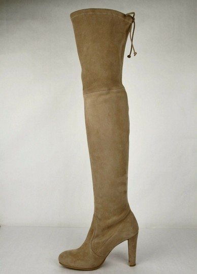 Stuart Weitzman Women's Highland Mojave Suede Light Brown Boots Image 6