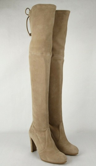 Stuart Weitzman Women's Highland Mojave Suede Light Brown Boots Image 3