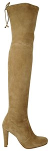 Stuart Weitzman Women's Highland Mojave Suede Light Brown Boots