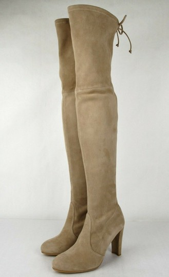 Stuart Weitzman Women's Highland Mojave Suede Light Brown Boots Image 1