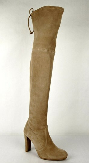 Stuart Weitzman Women's Highland Mojave Suede Light Brown Boots Image 5