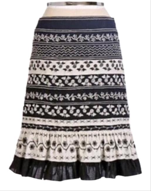 Preload https://img-static.tradesy.com/item/24929762/anthropologie-black-and-white-viola-embroidered-ruffle-skirt-size-2-xs-26-0-1-650-650.jpg