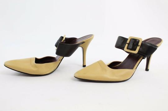 Chanel Mary Jane Tan And Black Pumps Image 2