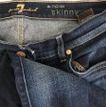 7 For All Mankind Skinny Jeans-Medium Wash Image 7