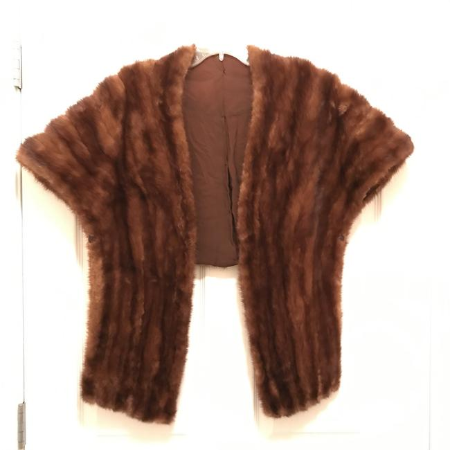 Item - Brown Natural Mink Stole Cape Coat Size 10 (M)
