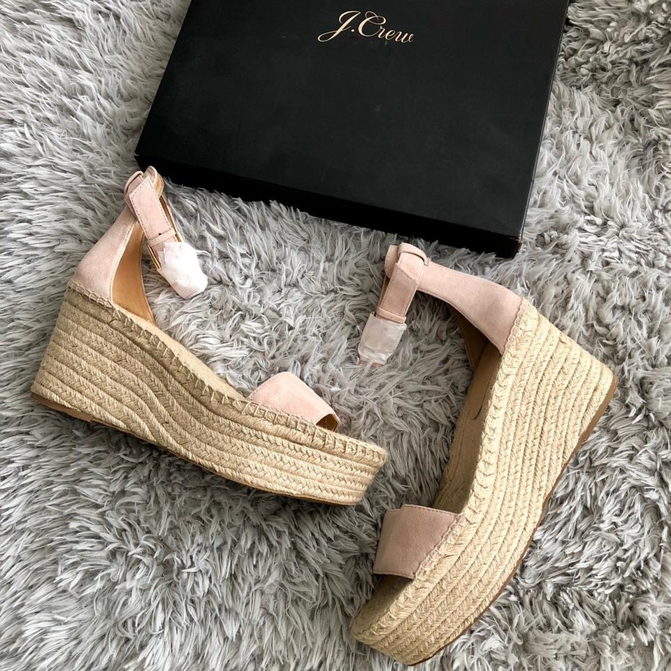 34685e830e8 J.Crew Blush Pink Platform Espadrille Sandals In Suede Wedges Size US 10.5  Regular (M, B) 27% off retail