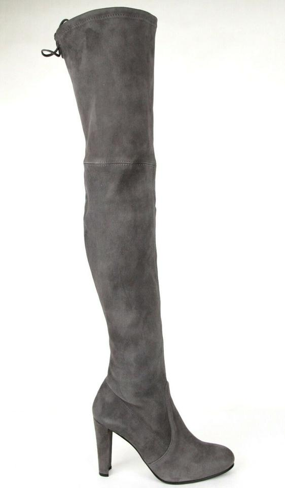 4e8e738696a Stuart Weitzman Slate Women s Highland Suede Over-the-knee 9m Boots Booties