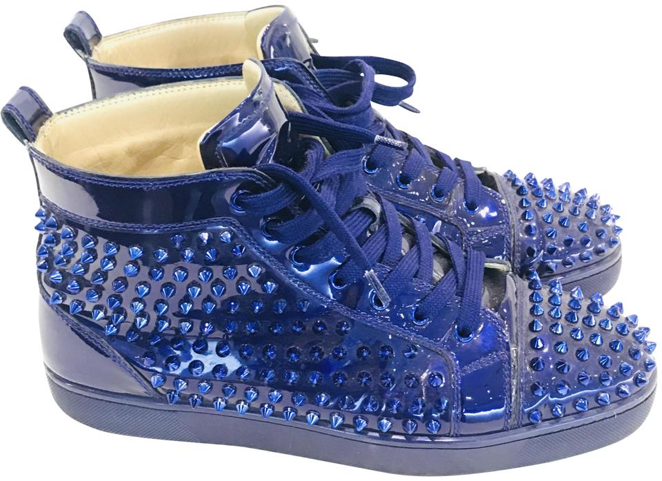 b7ae7d161d9 Christian Louboutin Purple Men Louis Flat Spikes Sneakers Sneakers ...