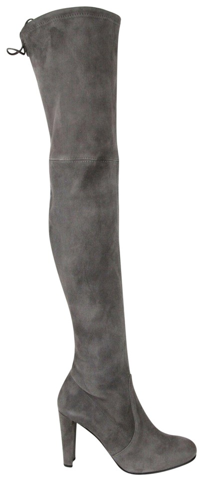 d8236ab997f Stuart Weitzman Slate Women s Highland Suede Over-the-knee Boots Booties