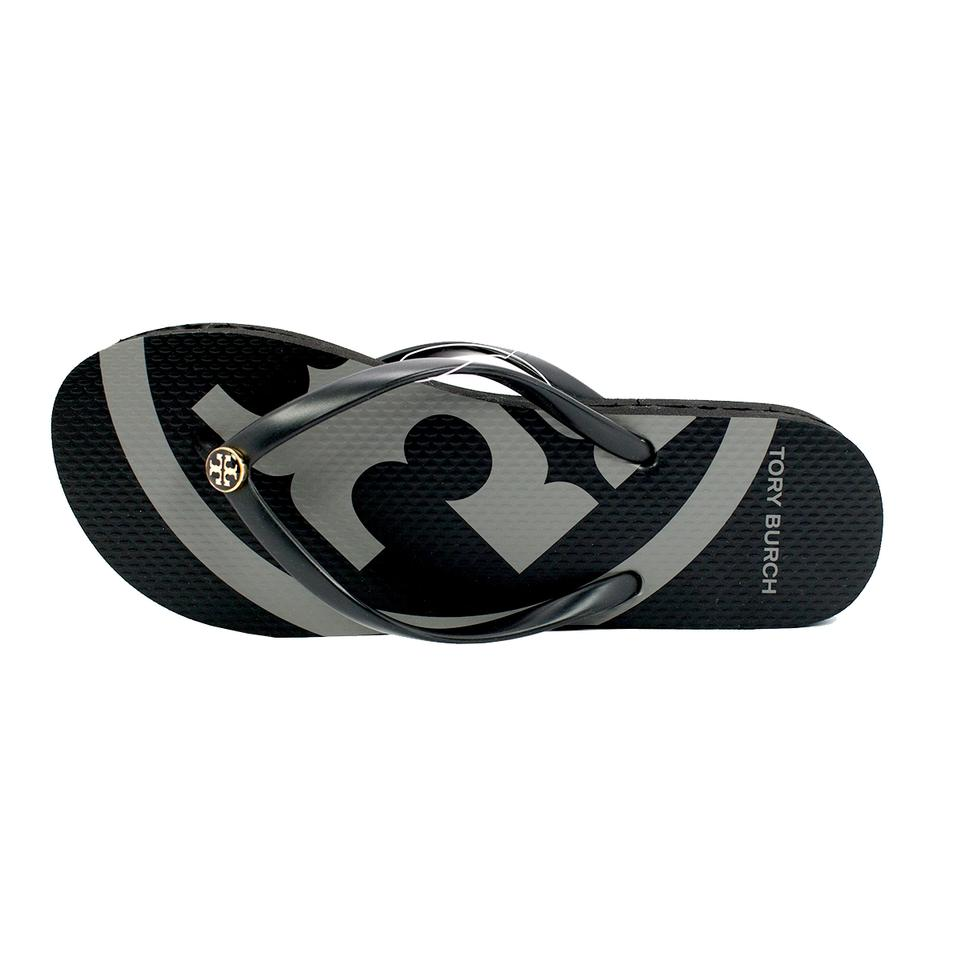 36314ba88aee Tory Burch Black Emory Flip Flops Sandals Size US 8 Regular (M