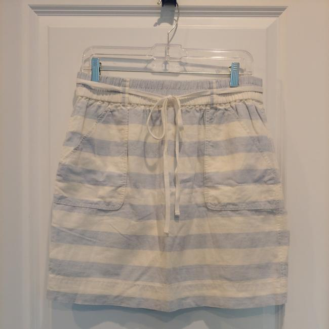 Item - Cream and Blue 160-365015 Skirt Size 8 (M, 29, 30)
