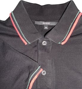 8f6ace66a Gucci Black Stretch Cotton Piquet Polo ~ Classic Red and Green Web ...