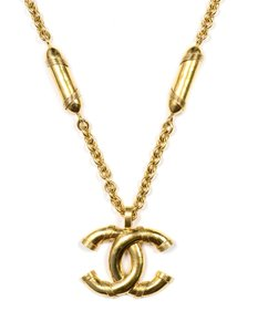 Chanel Vintage '94 XL CC Pendant Pill Necklace With Box