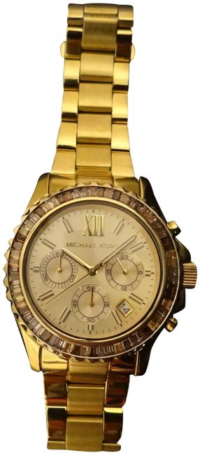 Item - Yellow Gold W Crystal Bezel Watch