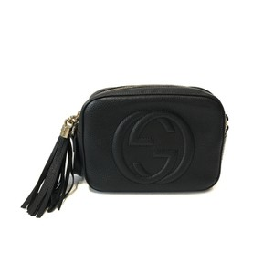 fa7d142a157 Added to Shopping Bag. Gucci Cross Body Bag. Gucci Soho Small Disco Black  Leather ...