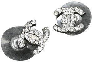 Chanel Chanel Rare Mini Crystal Stud Earrings