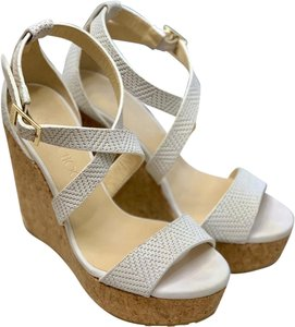 Jimmy Choo Leather Wedding white Wedges