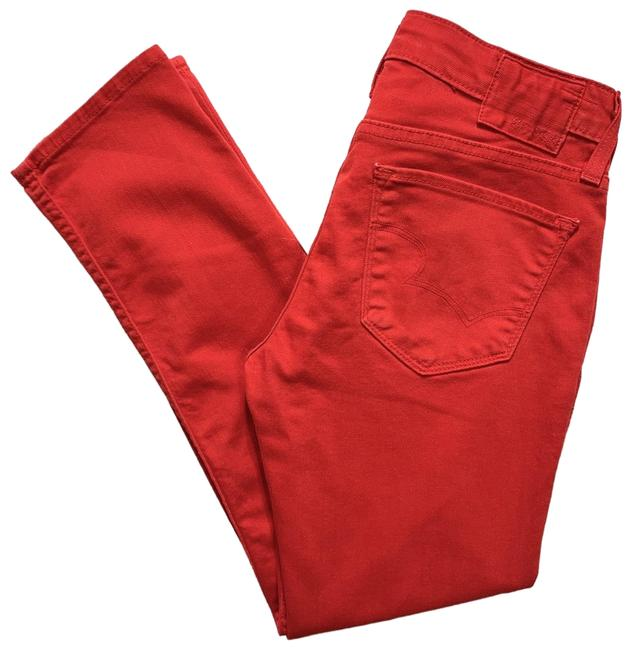 Item - Red Colored Crop Skinny Capri/Cropped Jeans Size 2 (XS, 26)