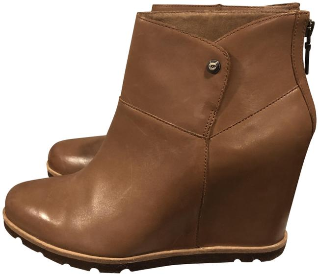 Item - Tan Leather Wedge Boots/Booties Size US 11 Regular (M, B)