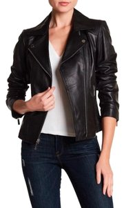 Michael Kors black leather with tag Leather Jacket