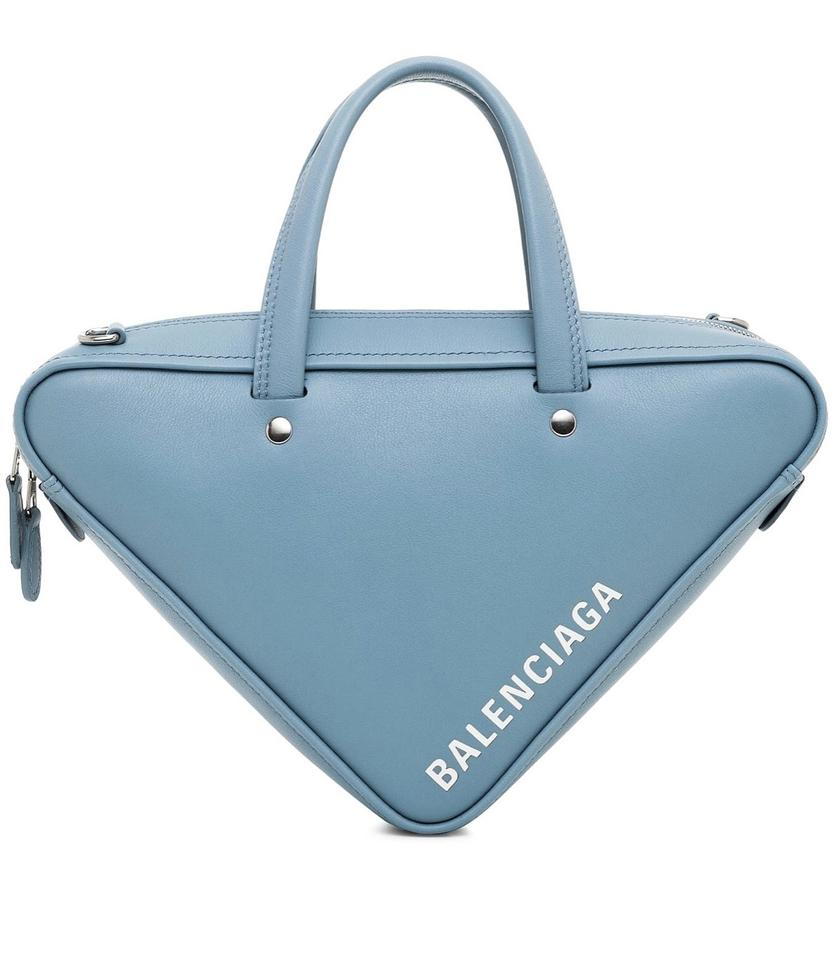 ac49f5abcb16 Balenciaga Triangle Xs Calfskin Duffel Blue Gray Cross Body Bag ...
