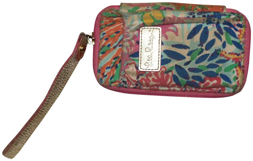 Ordinaire Lilly Pulitzer Smartphone Multicolor Canvas Wristlet 38% Off Retail