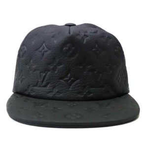 Louis Vuitton ss19 Virgil Abloh Black Leather Monogram Noir Baseball Cap  870231 a7512d78c26e